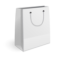 Paper shopping bag isolated on white background vector image