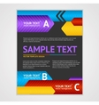 Abstract Arrows Geometric Poster Template vector image