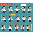 Adult at work emotional poses and situations set vector image
