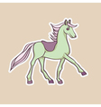 baby horse sticker vector image