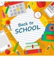 Back to school poster with text vector image