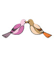 cute bird exotic beak feather adorable icon vector image
