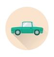 Flat retro car icon vector image