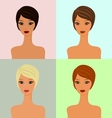 four faces vector image