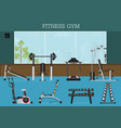 gym interior with gym equipment vector image