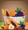 harvest fruit bowl healthy vector image