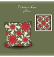 Pillow Red Flowers vector image