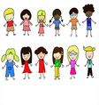 World Children set vector image