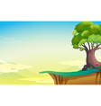A big old tree near the cliff vector image vector image