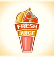 Banana strawberry fresh juice vector image