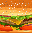 cheeseburger fast food pattern background vector image
