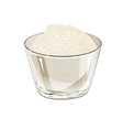 bowl of sugar vector image vector image
