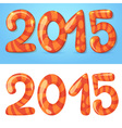 2015 figures winter card vector image