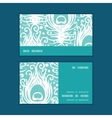 soft peacock feathers horizontal stripe frame vector image