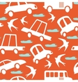 Colorful seamless pattern with cars and swallows vector image vector image