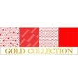 Set polka dots pattern on red and white background vector image