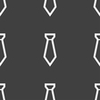 Tie icon sign Seamless pattern on a gray vector image