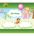Kid web template vector image