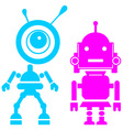 Two cute robots girl and guy vector image
