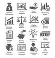 Business economic icons vector image