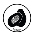 Icon of Papaya vector image vector image