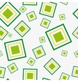 Seamless pattern with green squares vector image