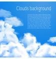 Blue sky with white clouds background vector image