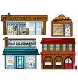 Different establishments vector image