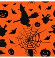 Halloween card seamless pattern background vector image