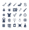 Handmade hobby activities flat silhouettes icons vector image