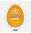 Happy Easter Background Easter egg Easter poster vector image