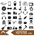 hipster theme and culture set of icons eps10 vector image
