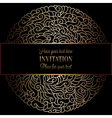 Invitation decorative golds 31 vector image