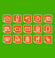 office and business icons on stickers vector image