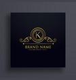 premium letter k brand logo concept design vector image