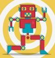 Retro Robot 1 The Dacer vector image
