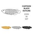 scleropages fotmosus fish icon cartoon singe vector image