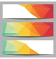 Set of abstract banners from polygons vector image