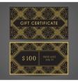 Vintage Gift Certificate vector image