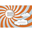 Sun and clouds background with place for your text vector image vector image