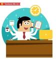 Multitasking and multipurpose businessman vector image
