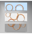 background banner Circles set color shadow vector image