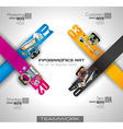teamworkINFO vector image vector image