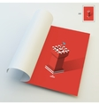 A4 Business Blank Leader concept Tower vector image