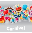 Carnival show and party seamless pattern with vector image