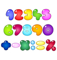 fat bubble numbers vector image vector image