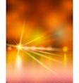 Light show orange vector image