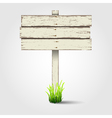 Old wooden signboard vector image