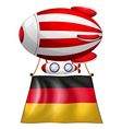 A floating balloon with the flag of Germany vector image
