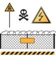 abstract warning signs set vector image